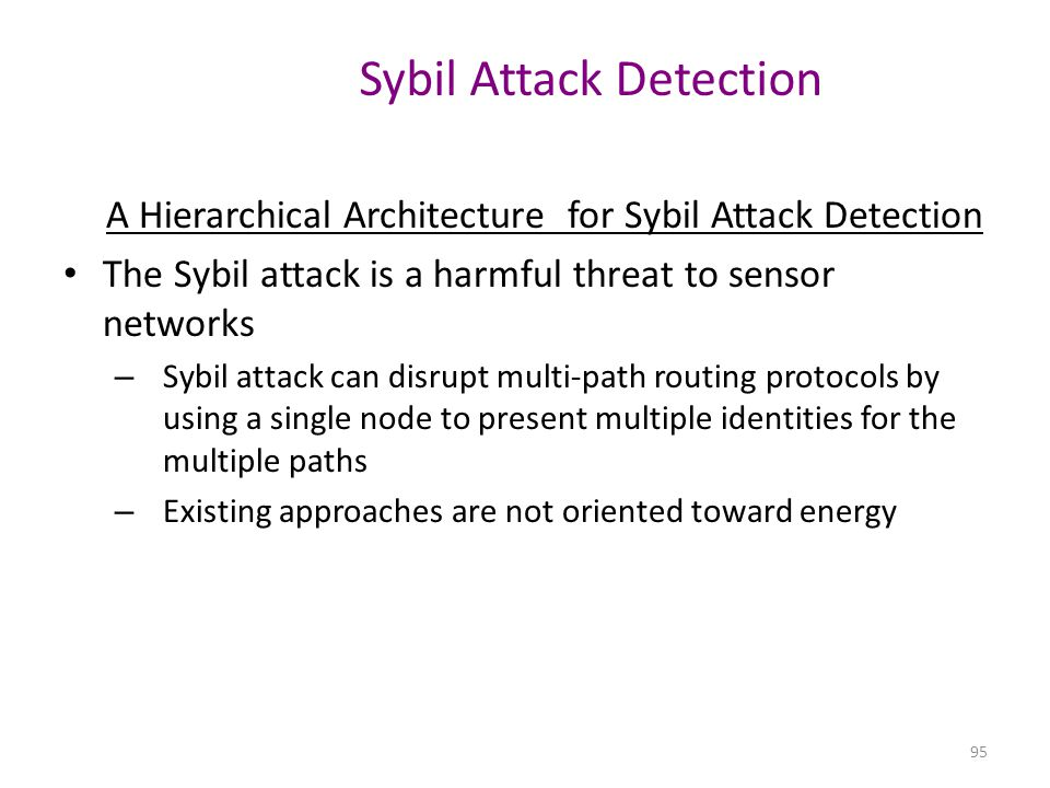 Sybil Attack Detection