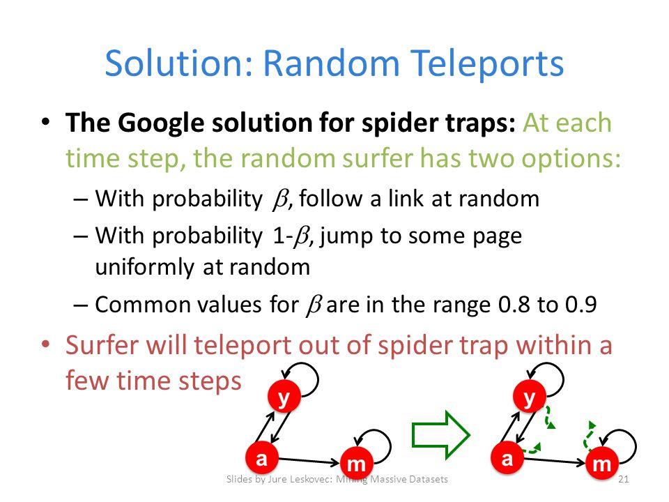 Solution: Random Teleports