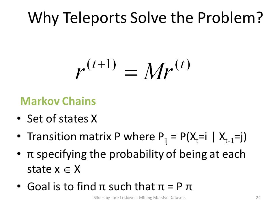 Why Teleports Solve the Problem