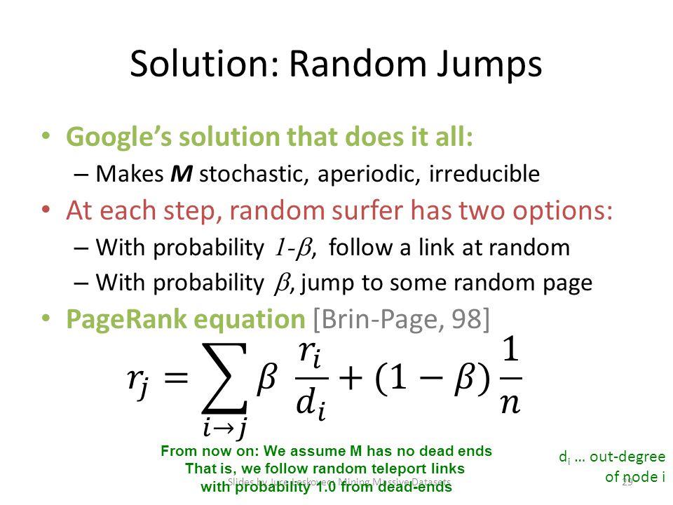 Solution: Random Jumps