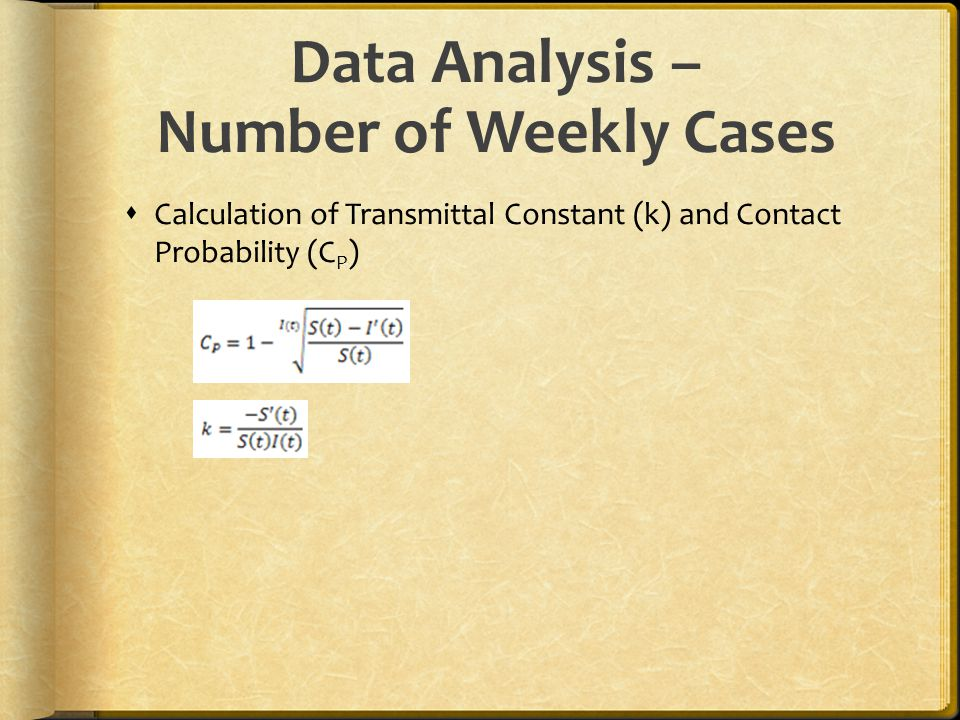 Data Analysis – Number of Weekly Cases