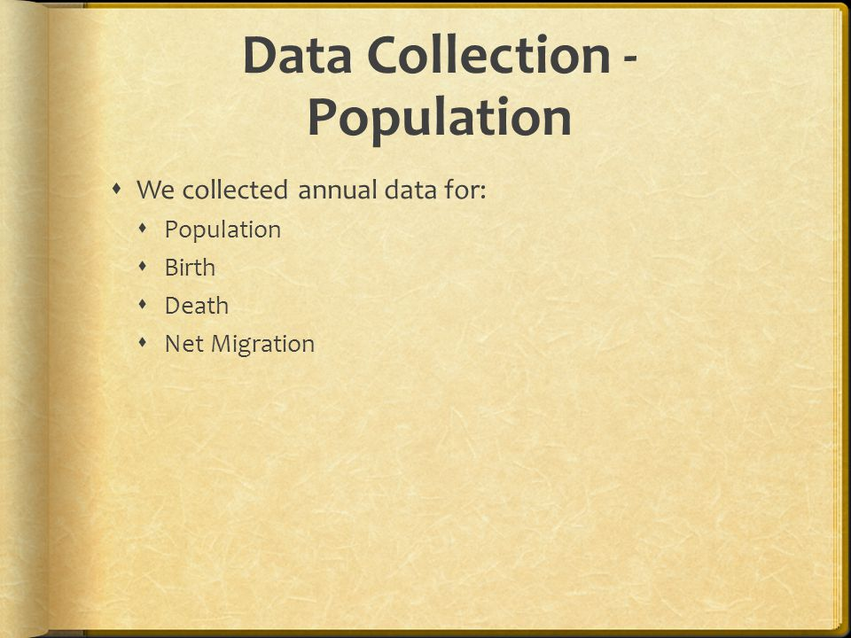 Data Collection - Population