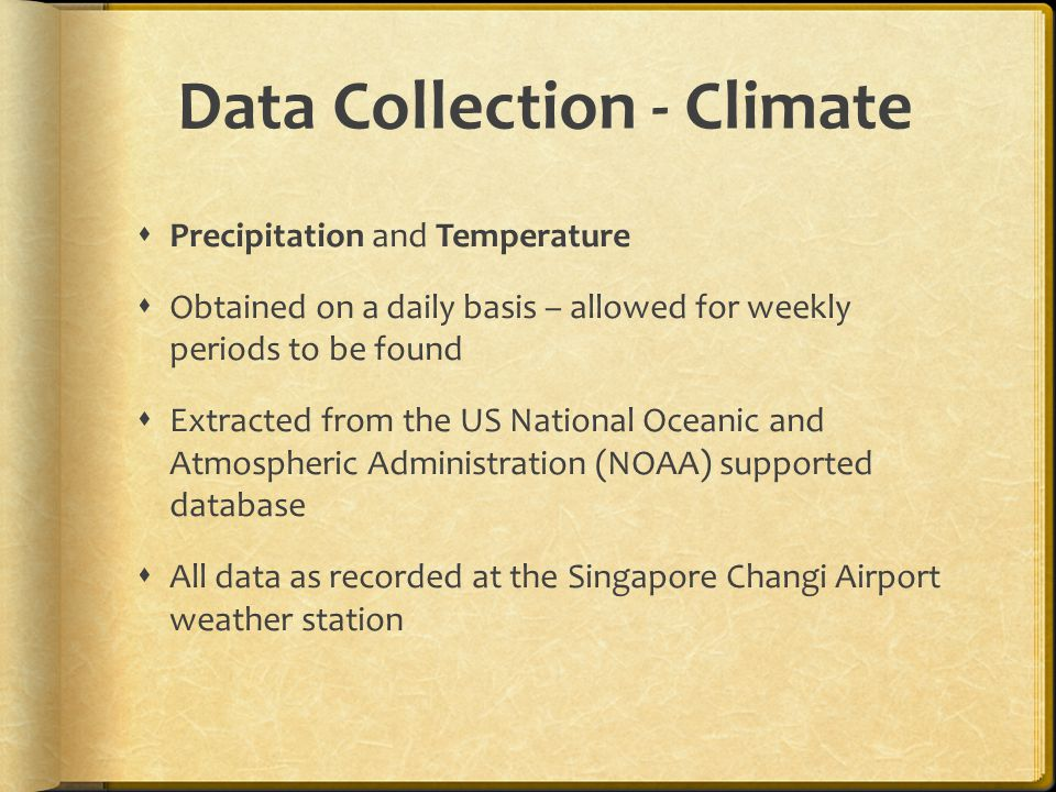 Data Collection - Climate
