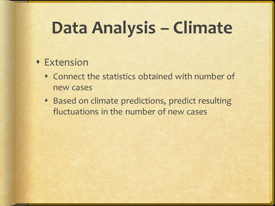 Data Analysis – Climate
