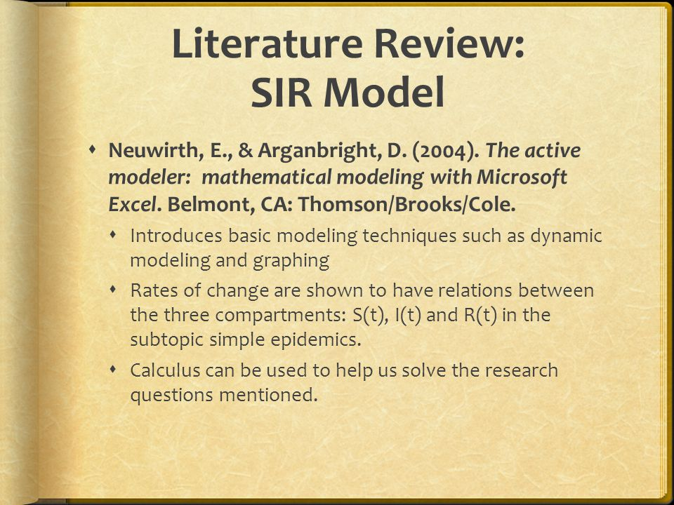 Literature Review: SIR Model