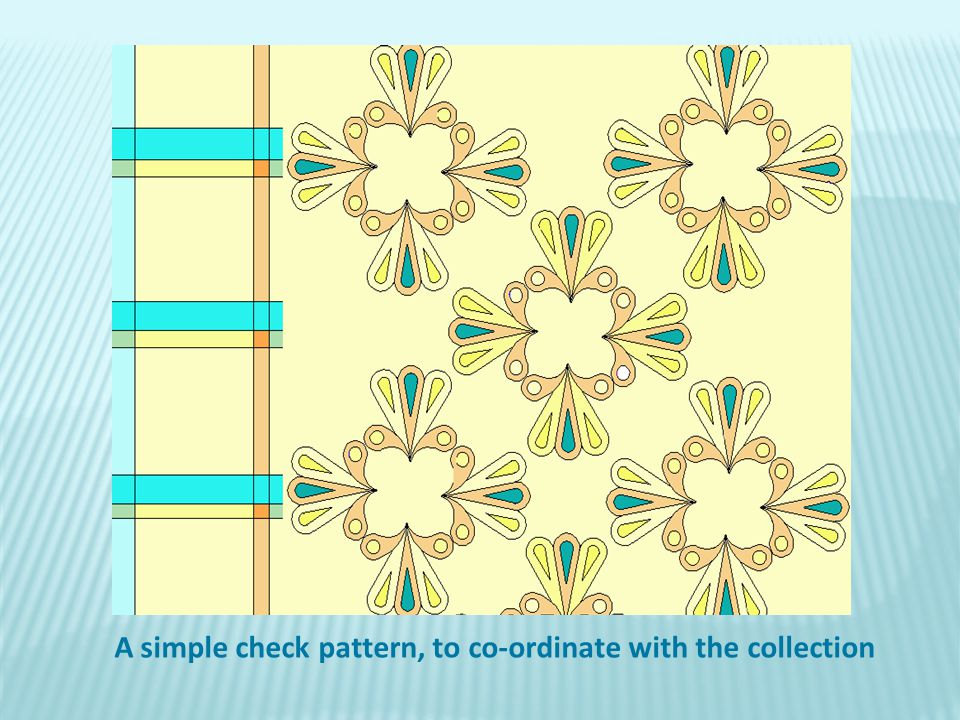 A simple check pattern, to co-ordinate with the collection