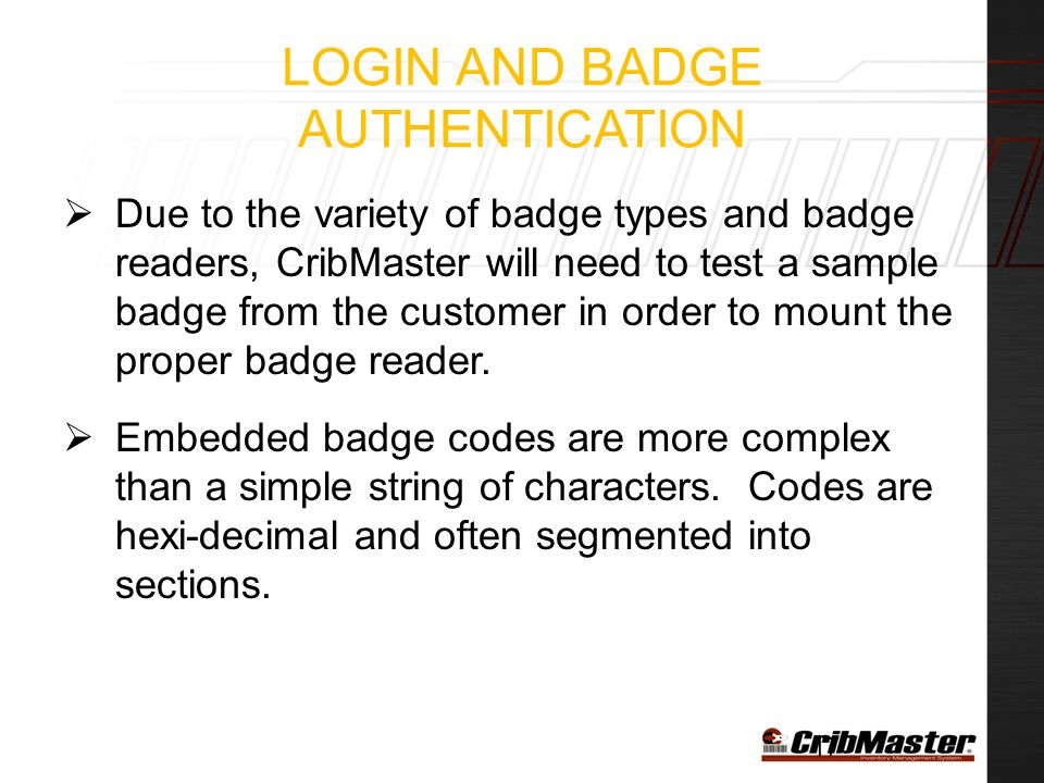 Login and Badge Authentication
