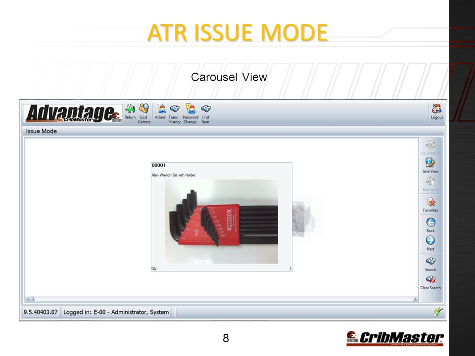 ATR ISSUE Mode Carousel View
