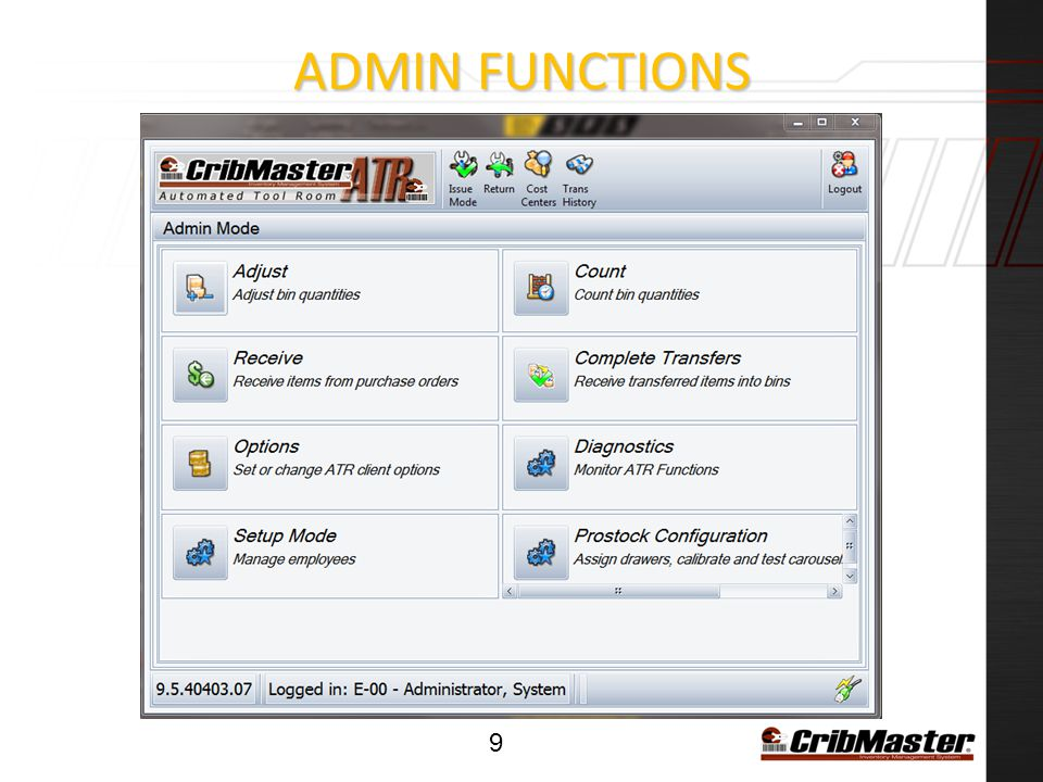 ADMIN Functions