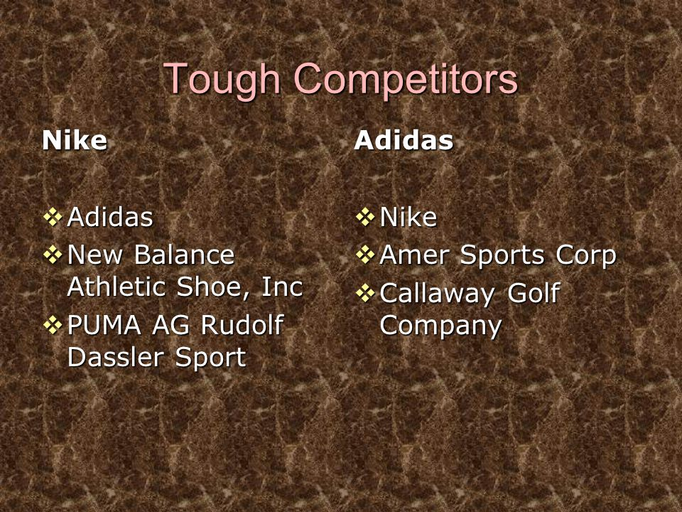 Tough Competitors Nike Adidas New Balance Athletic Shoe, Inc