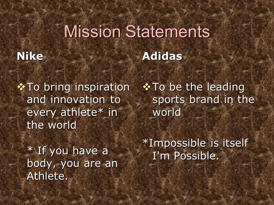 Mission Statements Nike