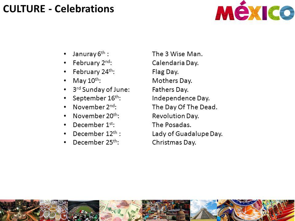 CULTURE - Celebrations