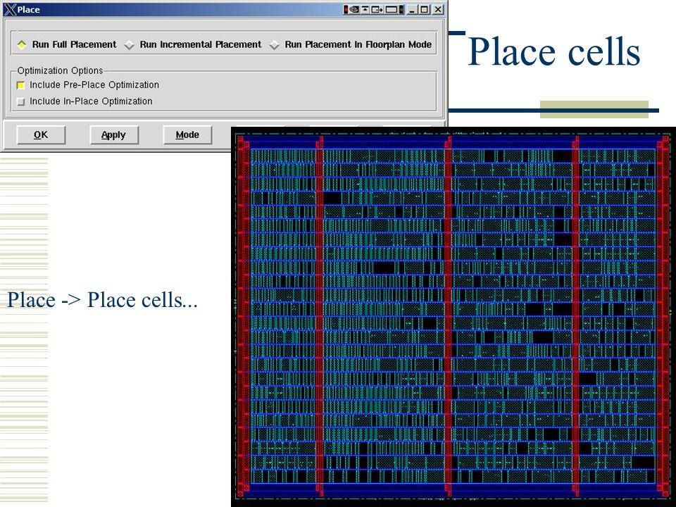 Place -> Place cells...