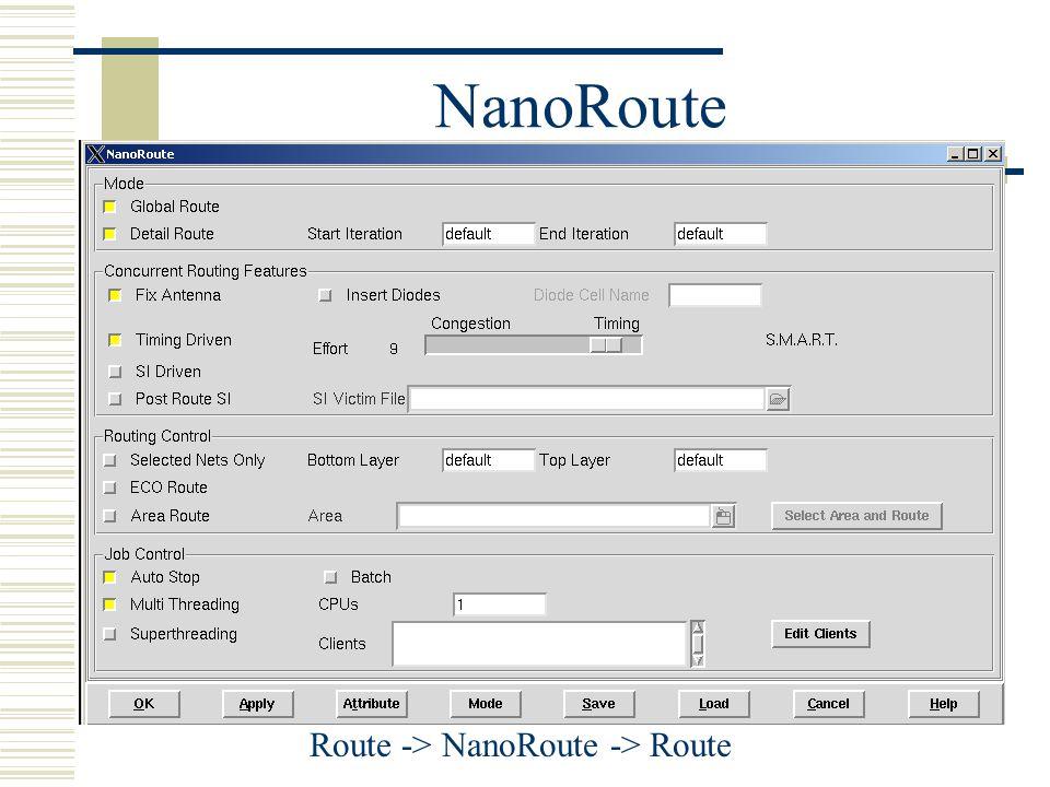 Route -> NanoRoute -> Route