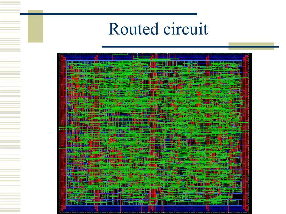 Routed circuit