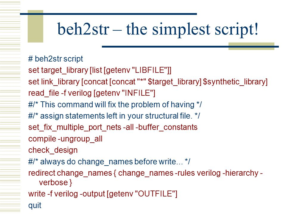 beh2str – the simplest script!