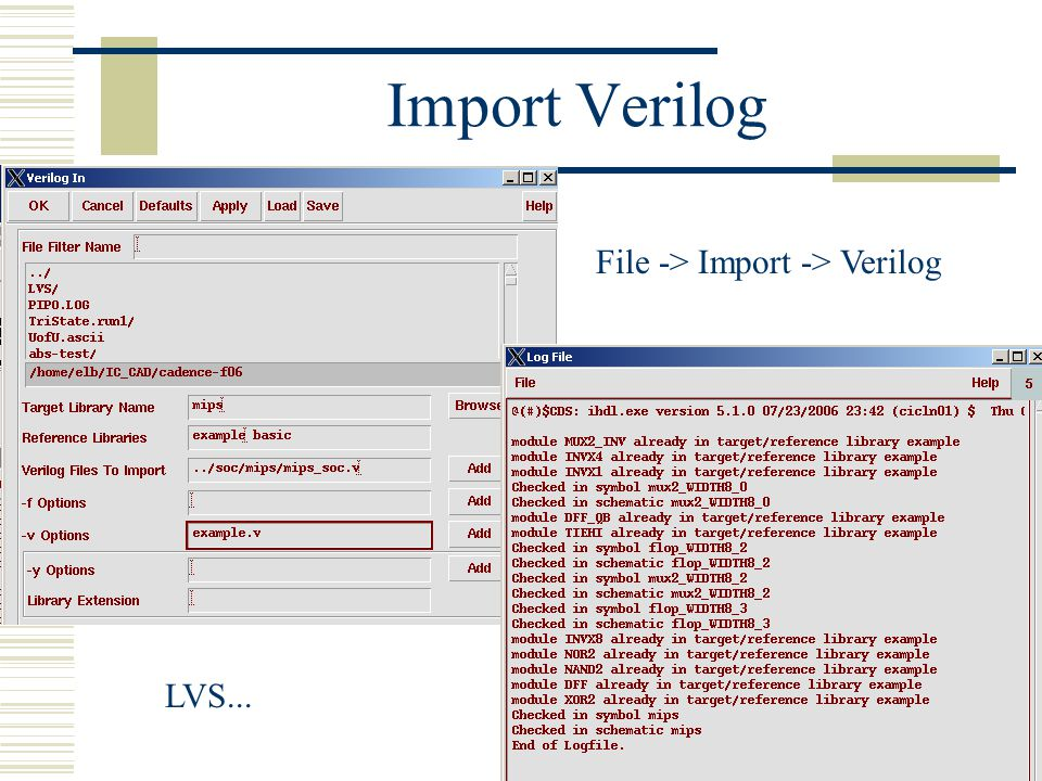 File -> Import -> Verilog
