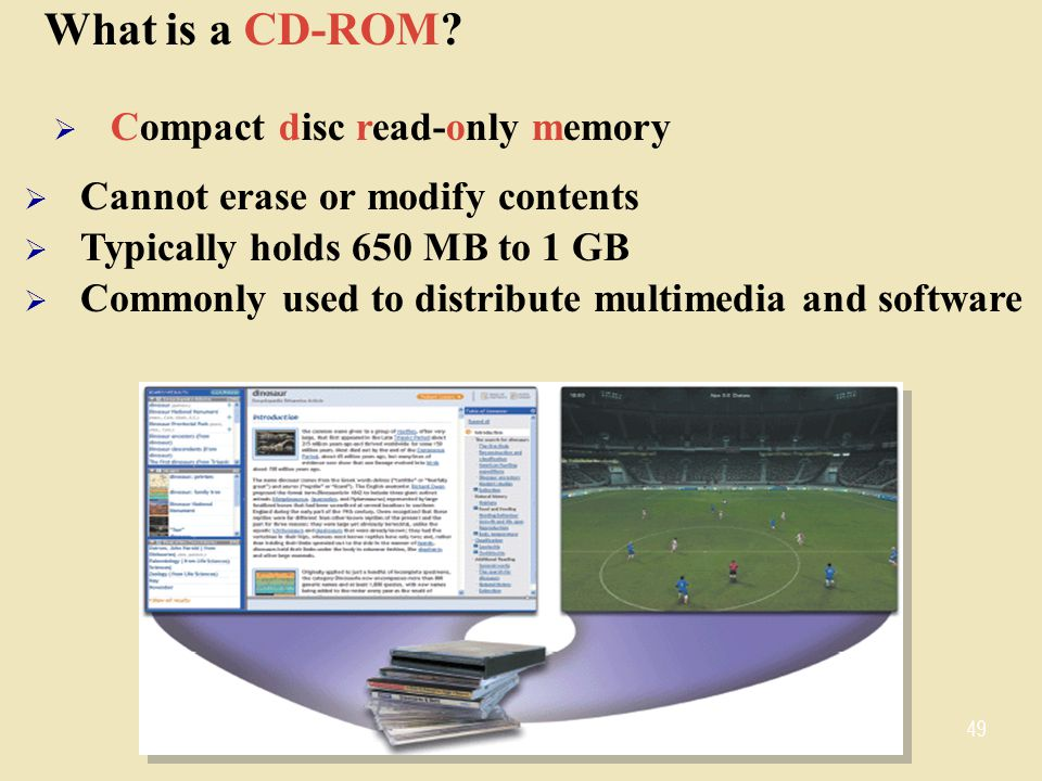 What is a CD-ROM Compact disc read-only memory