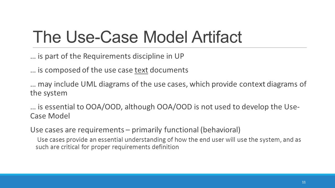 The Use-Case Model Artifact
