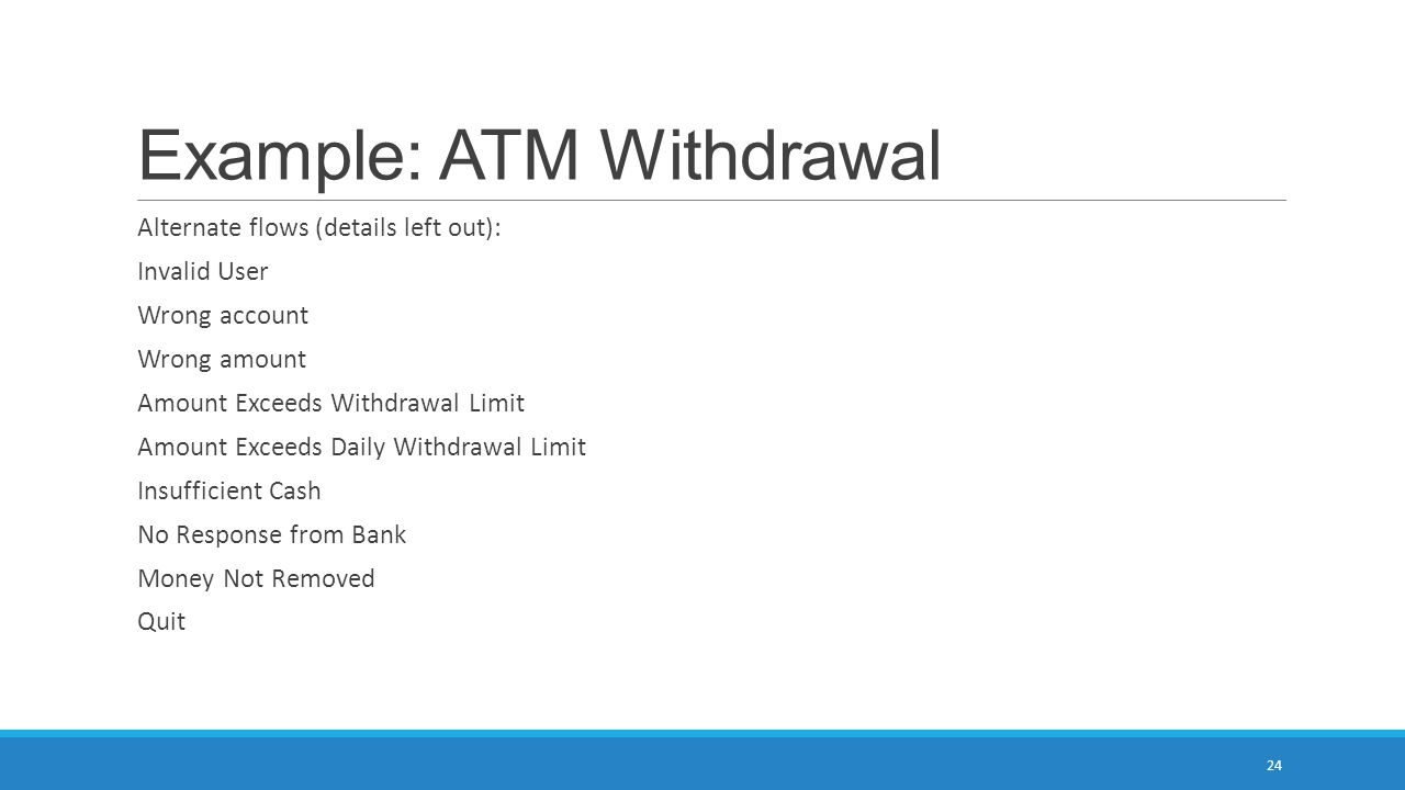 Example: ATM Withdrawal