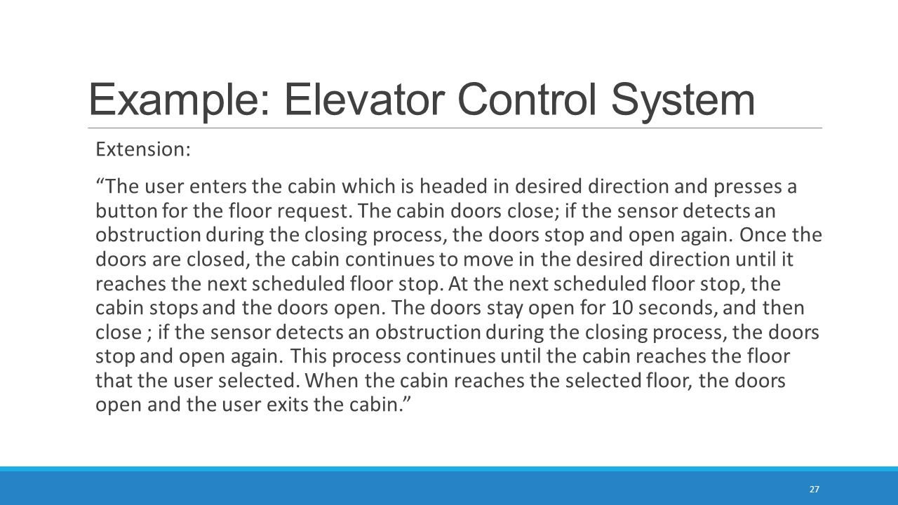 Example: Elevator Control System