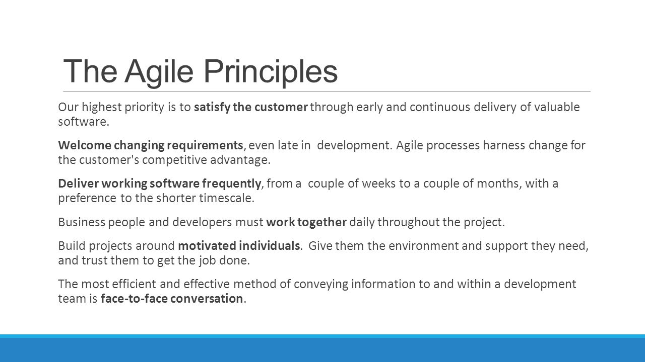The Agile Principles