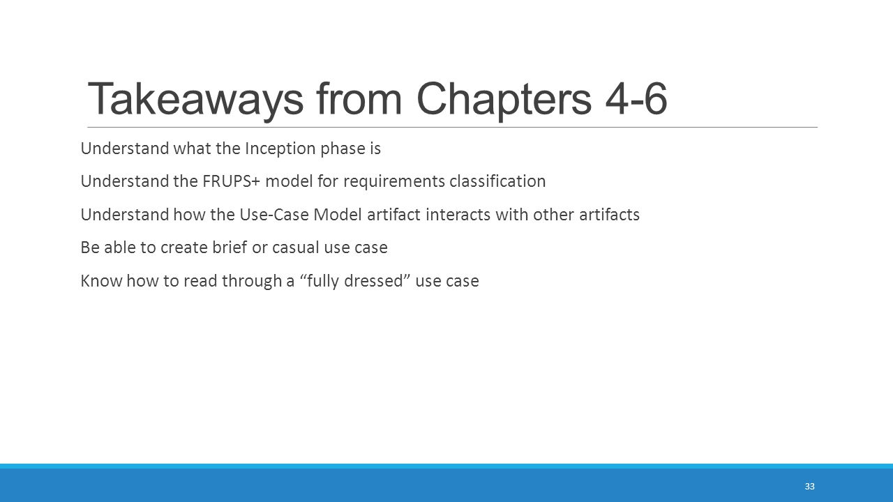 Takeaways from Chapters 4-6