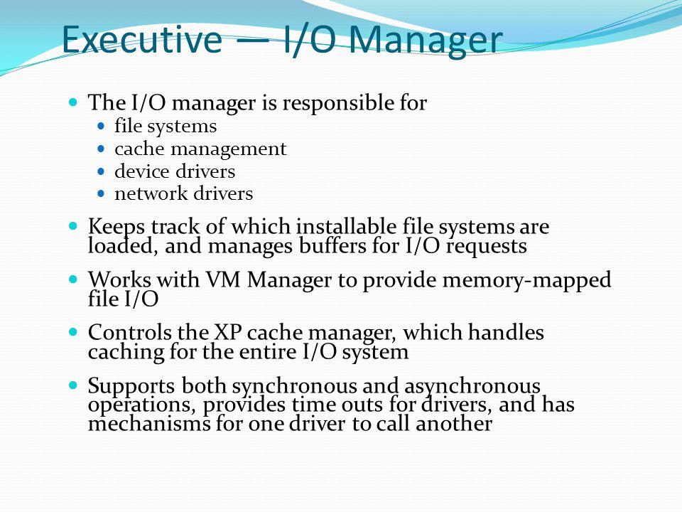 Executive — I/O Manager