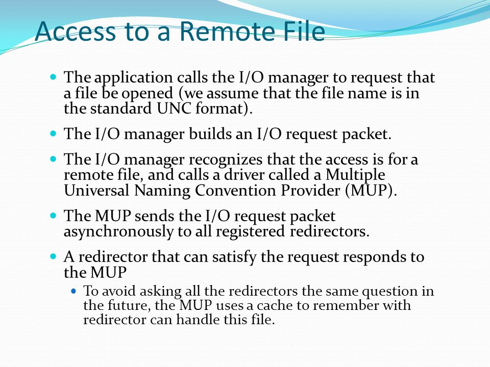 Access to a Remote File
