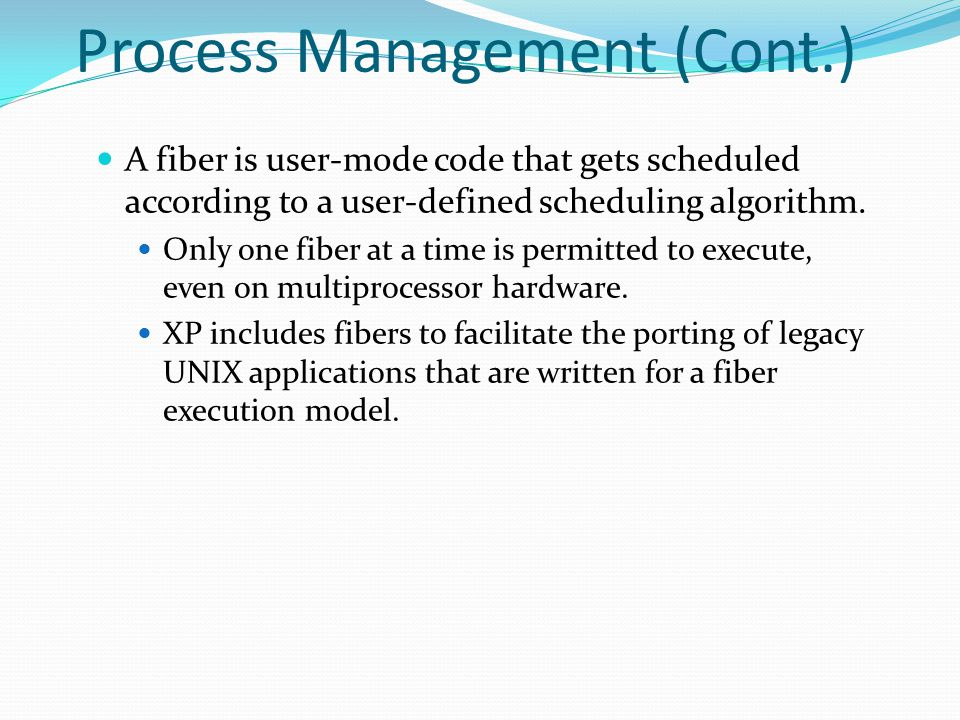 Process Management (Cont.)