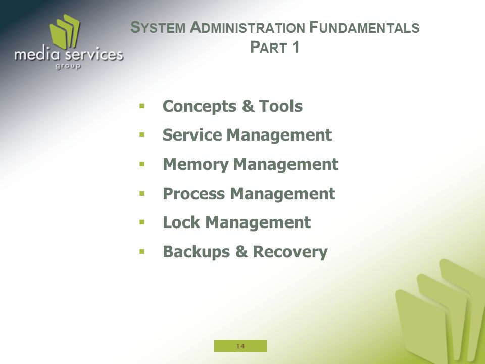 System Administration Fundamentals Part 1