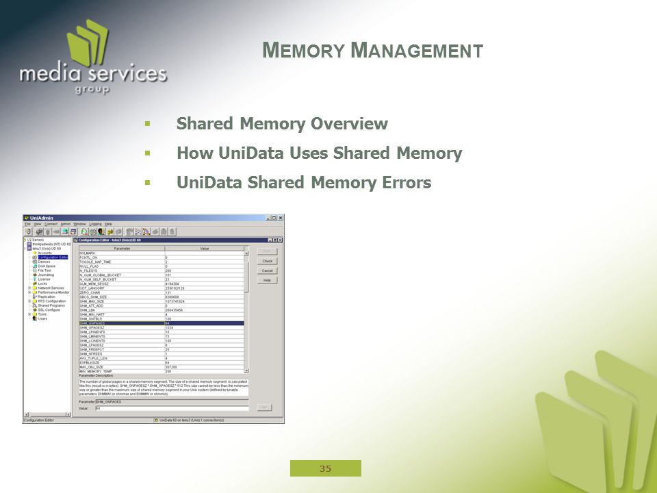 Memory Management Shared Memory Overview