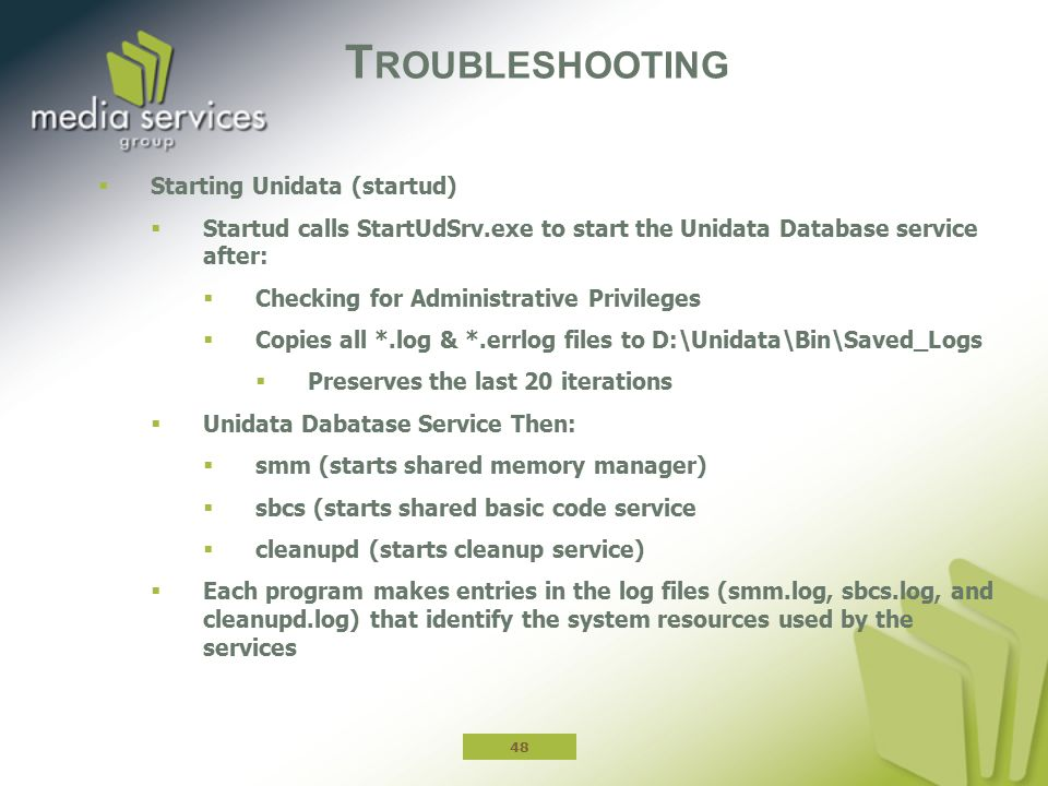 Troubleshooting Starting Unidata (startud)