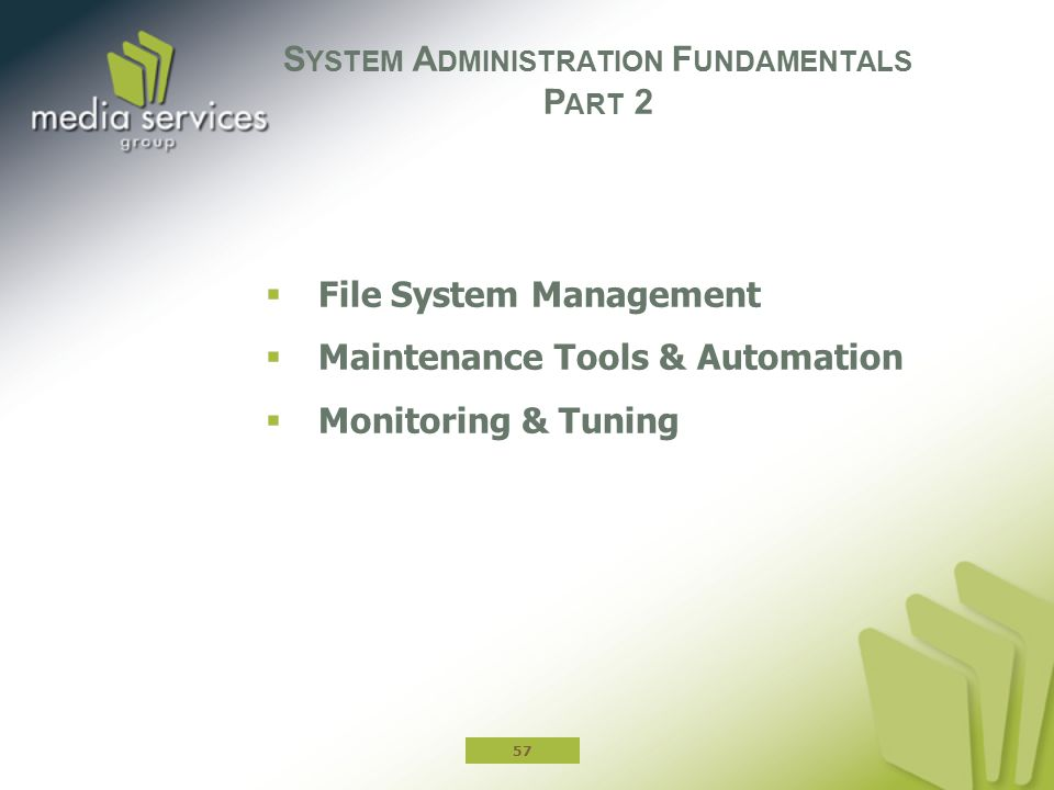 System Administration Fundamentals Part 2