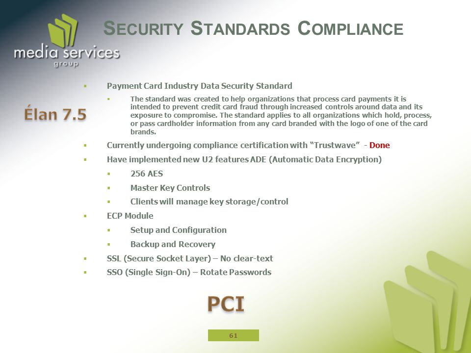 Security Standards Compliance