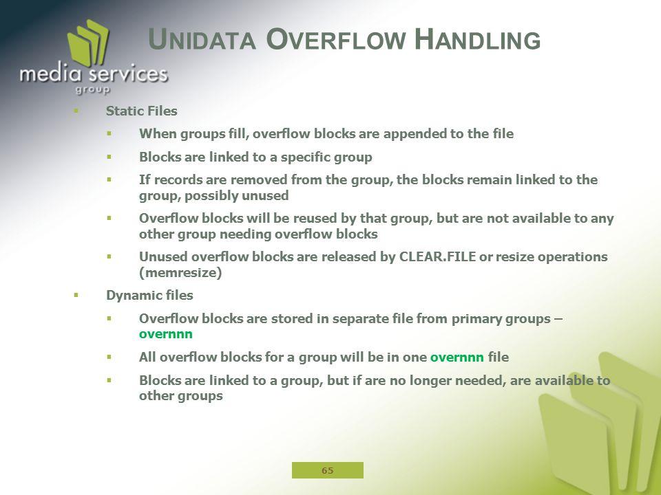 Unidata Overflow Handling