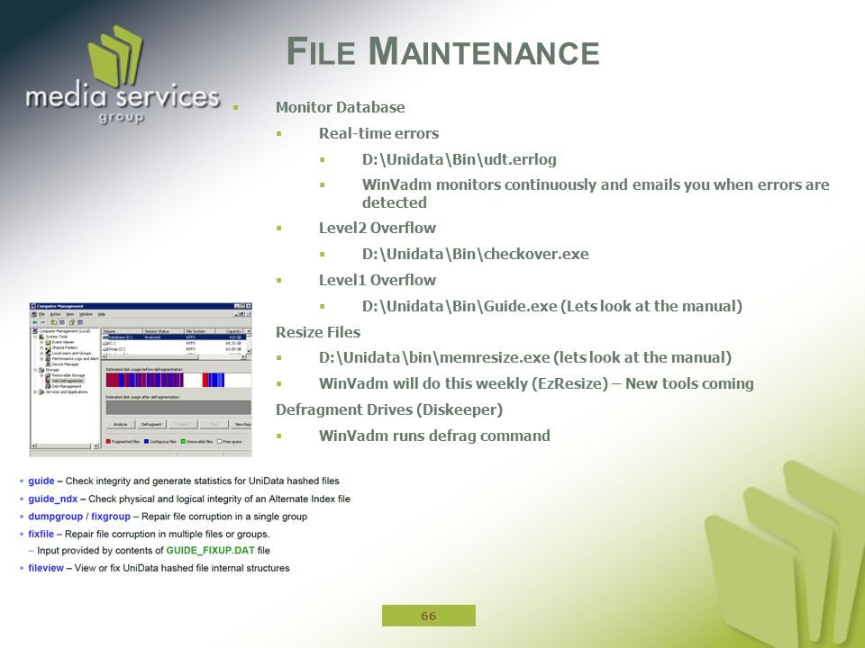 File Maintenance Monitor Database Real-time errors
