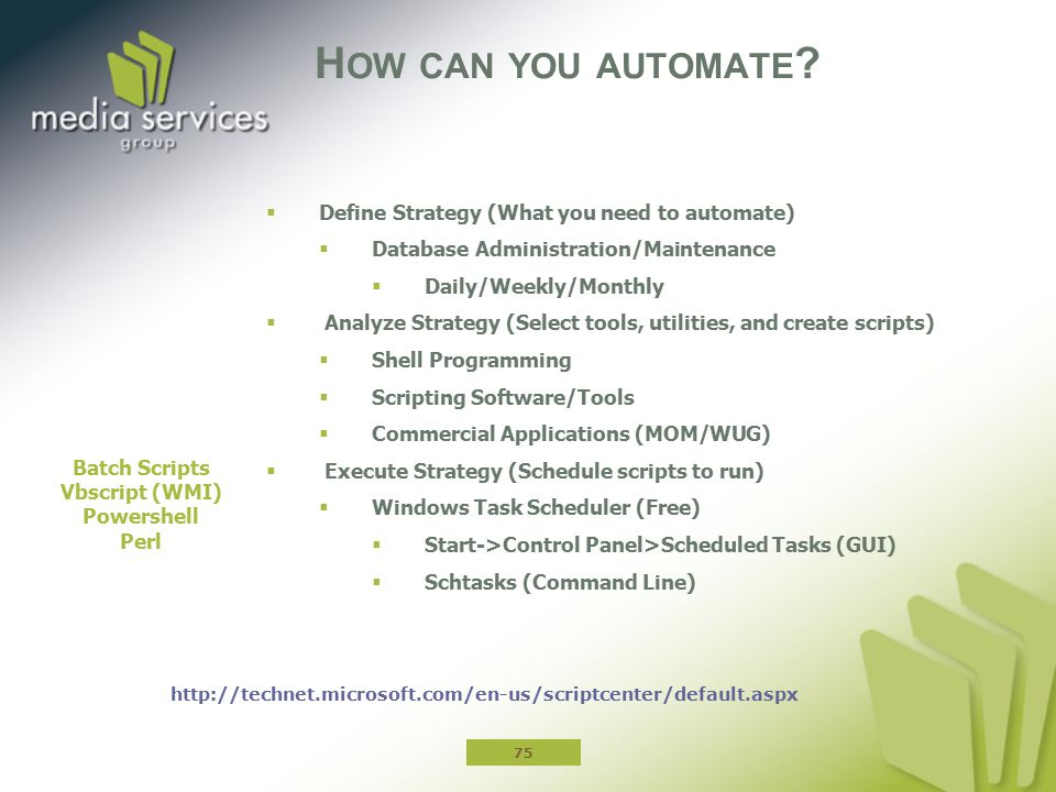 How can you automate Define Strategy (What you need to automate)