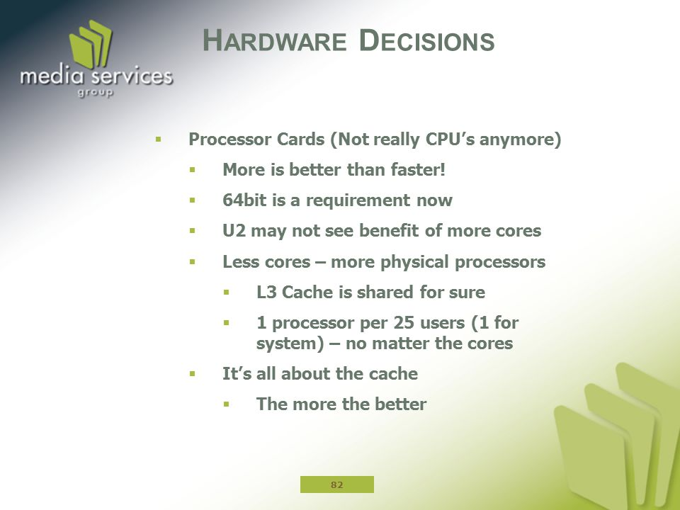 Hardware Decisions Processor Cards (Not really CPU's anymore)