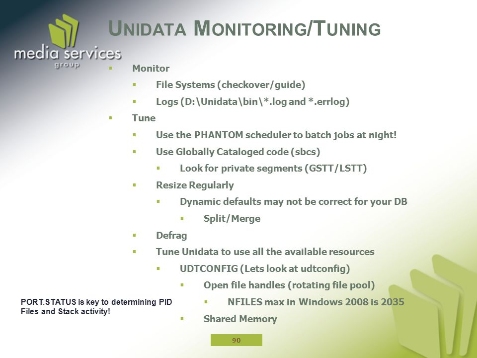 Unidata Monitoring/Tuning