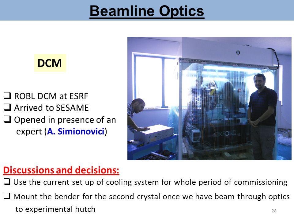 Beamline Optics DCM Discussions and decisions: ROBL DCM at ESRF