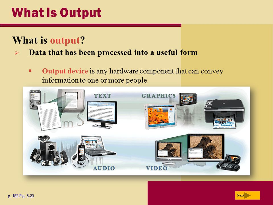 What is Output What is output