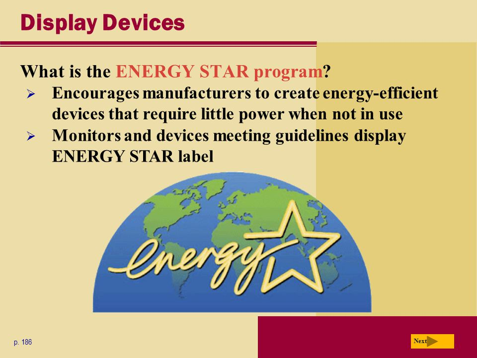 Display Devices What is the ENERGY STAR program