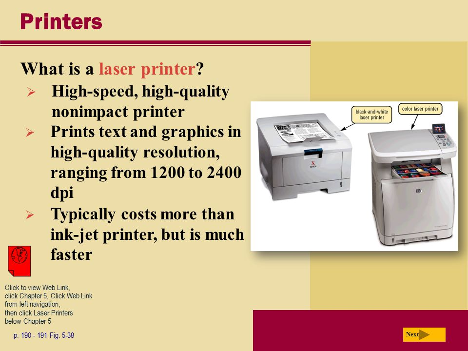 Printers What is a laser printer