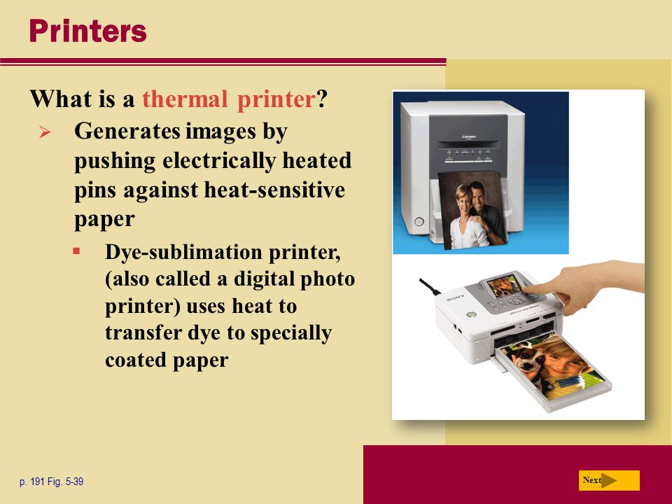 Printers What is a thermal printer