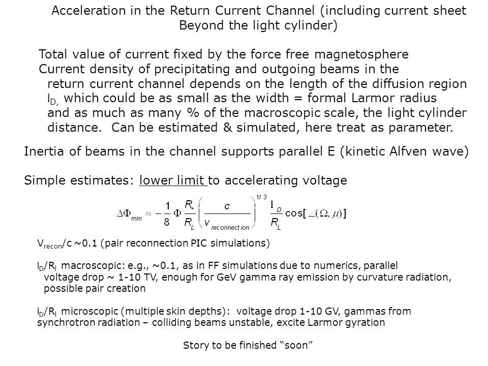 Acceleration in the Return Current Channel (including current sheet