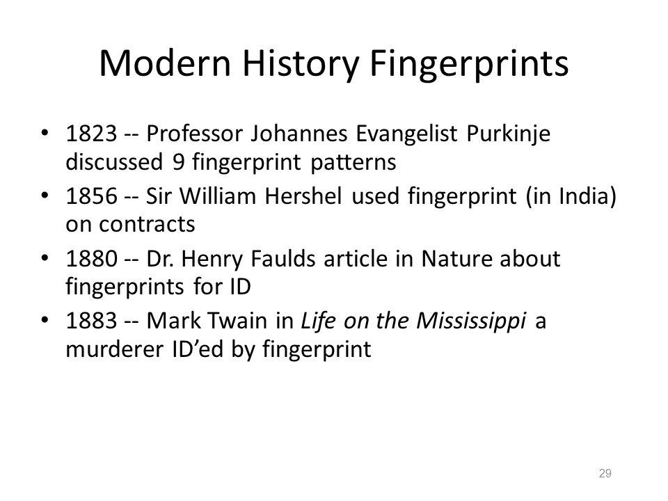 Modern History Fingerprints