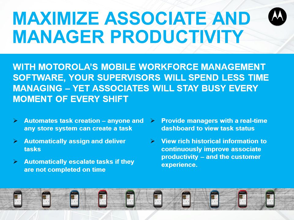 MAXIMIZE ASSOCIATE AND MANAGER PRODUCTIVITY