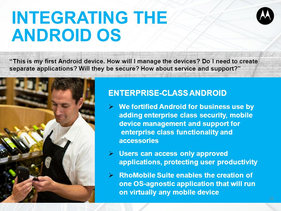 INTEGRATING THE ANDROID OS