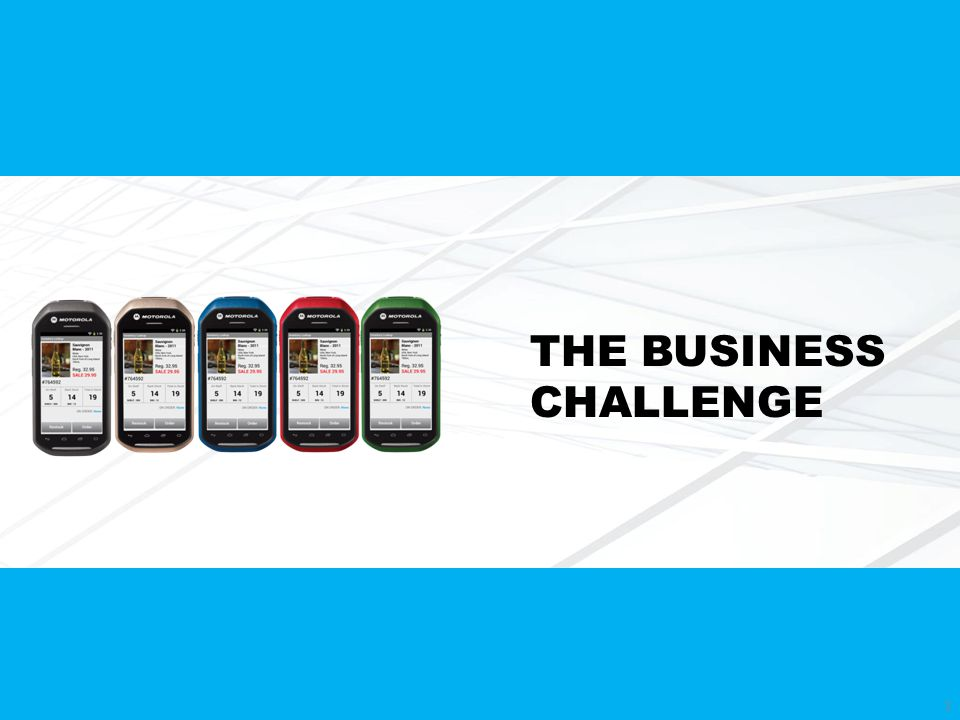 THE BUSINESS CHALLENGE